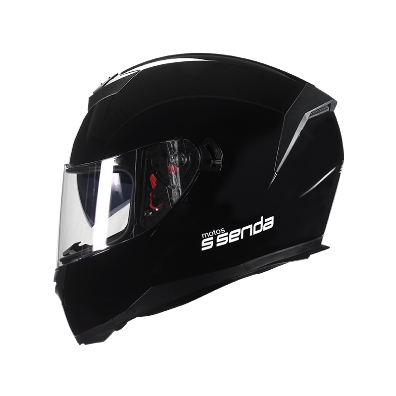 CASCO SSENDA DOT NEGRO BRILLO